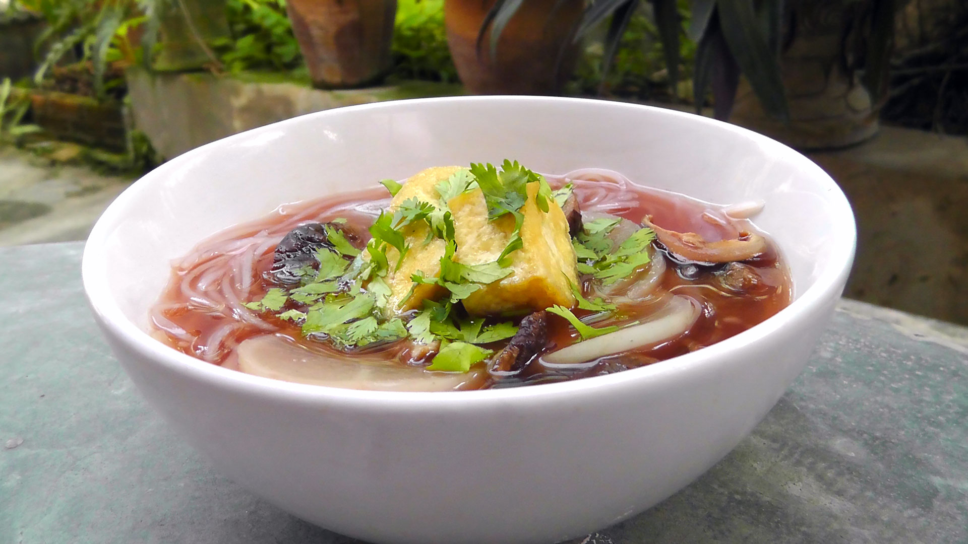 thai-suppe-roter-tofu-rettich-vegetarisch